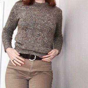 J. Crew wool sweater acrylic alpaca leather